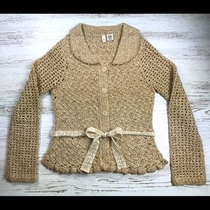 Anthropologie MOTH Sweater Size S Wool Cardigan